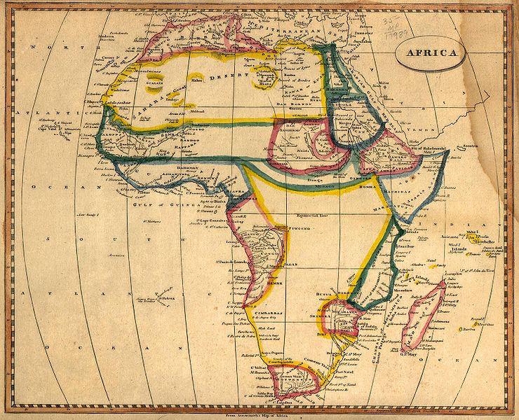 Afrikakart fra 1812, lånt fra wikipedia.no