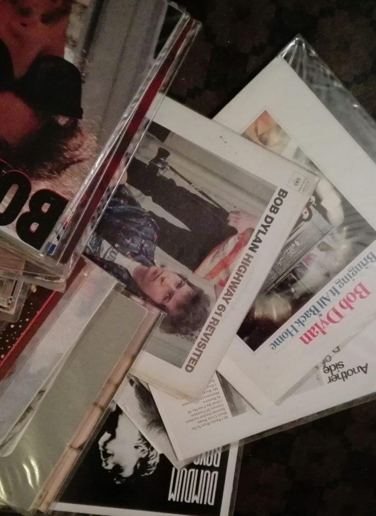 LP-plater med Bob Dylan.