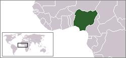 Verdenskart og kart over Vest-Afrika, som viser hvor Nigeria ligger.